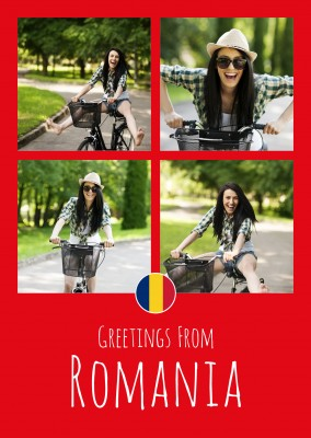 postcard Greetings from Romania