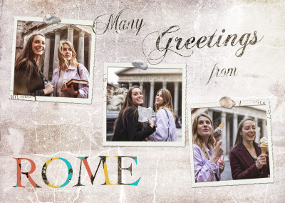 Many greetings from Rome