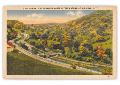 Rome, New York, State Highway and Boonville Gorge