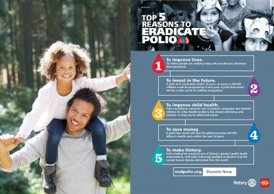 Rotary – 5 reasons to eradicate polio