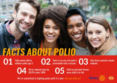 End polio now – Facts