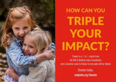 End polio now – Triple impact
