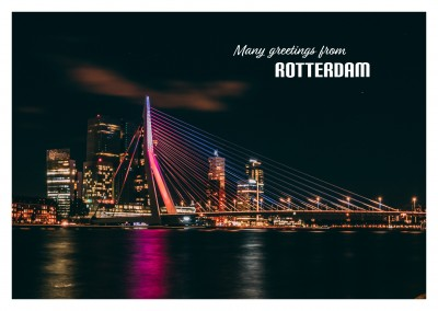 photo of Rotterdam harbour by night