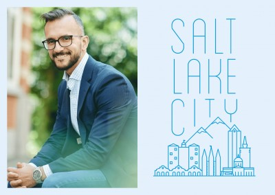 Salt Lake City Skyline Graphique