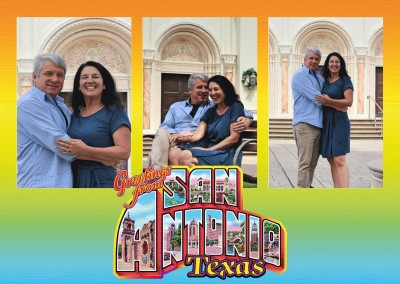 Large Letter Postcard Site Greetings from San Antonio, Texas