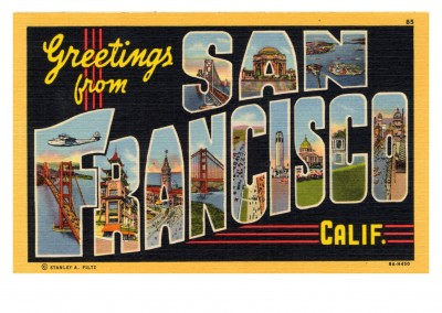 Curt Teich Postcard Archives Collection greetings fromgreetings from San Francisco