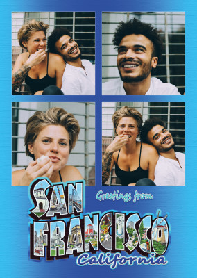 Gran Carta Postal Sitio De San Francisco, California