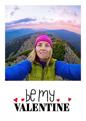 Editable Greetingcard for Valenitine`s day - Be my Valentine