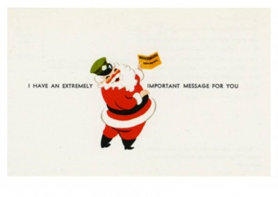 Curt Teich Postcard Archives Collection Santa with an extremely important message for you