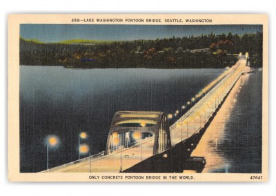 Seattle, Washington, lake Washington Pontoon Bridge