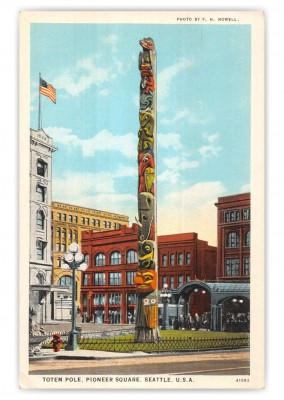 Seattle, Washington, Totem Pole, Pioneer Sqaure