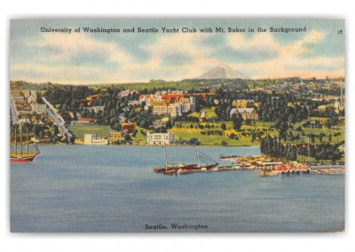 Seattle, Washington, Univeristy of Washington and Seattle Yacht Club