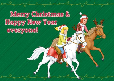 Bibi and Tina on their horses Christmas decoration