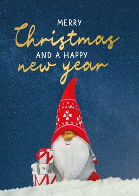 GREETING ARTS Merry Christmas and a Happy New Year