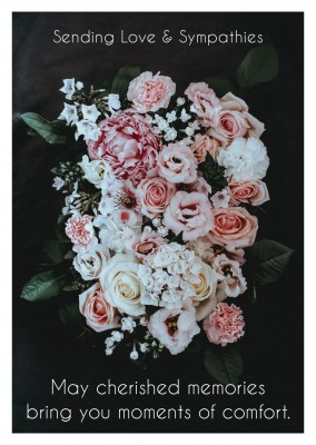photo bouquet in white and rose colours