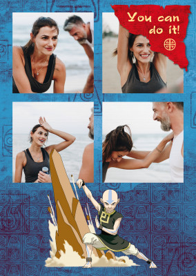 AVATAR: The Last Airbender postcard You can do it!