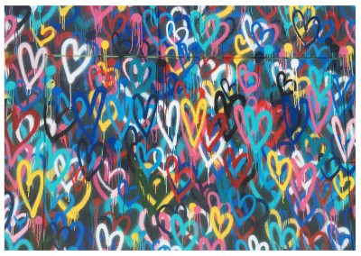 photo street-art wall full of hearts