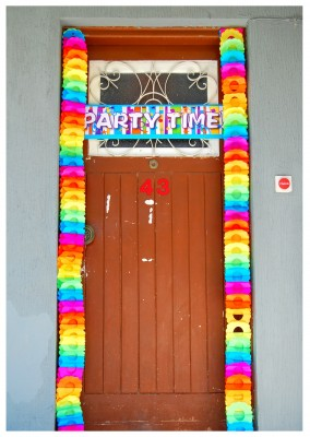 Foto party decoration door