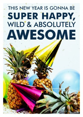 photo pineapples with party hats