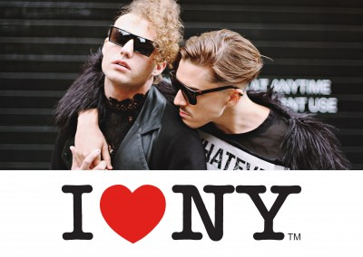 I Love NY - one photo white template