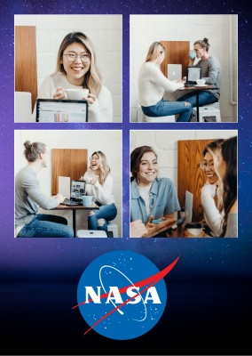 NASA space four photo template