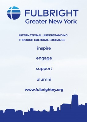 Fulbright association New York postcard
