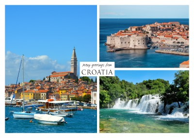 Three photos of Croatia