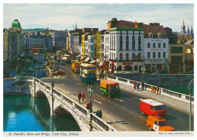 The John Hinde Archive photo St.Patrick's Street and bridge, Cork