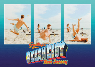 Ocean City New Jersey retro Style Postcard
