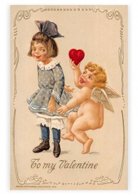 Mary L. Martin Ltd. vintage greeting card To my Valentine