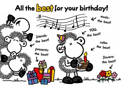 Sheepworld All the best for your birthday