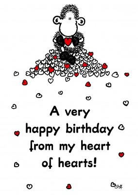 Sheepworld Happy Birthday from my Heart of Hearts