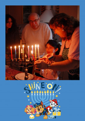 PAW Patrol Postkarte Shine on! Happy Hanukkah!