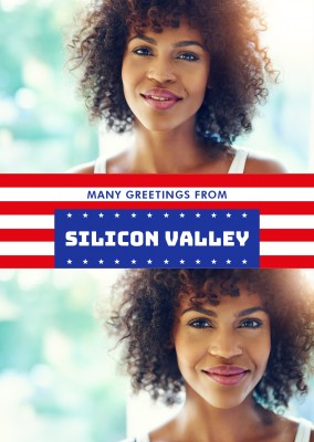 Silicon Valley US-Flagge