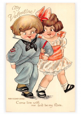 Mary L. Martin Ltd. vintage greeting card My Valentine