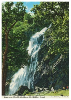 John Hinde Arkiv foto Powerscourt waterfall, Ennniskerry, Irleand