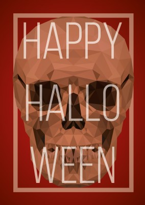 Skull with Happy halloween