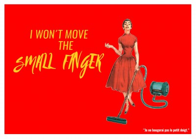 Expression drole franglais - I won t move the small finger