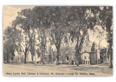 South Hadley, Massachusetts, Mary Lyone Hall, Library and gate, Mount Holyoke College
