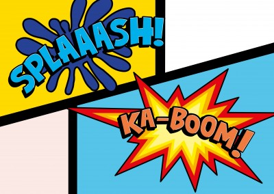 kaboom splash pop art–mypostcard