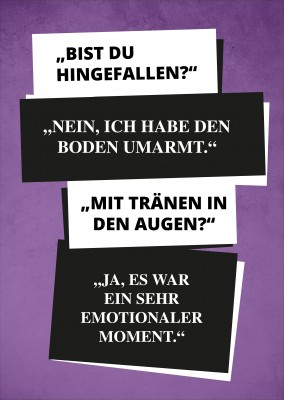 Spruch Boden umarmt emotionaler Moment