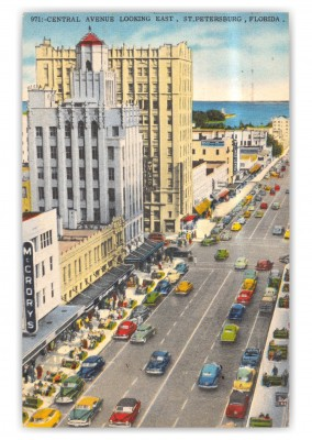 St. Petersburg, Florida, Central Avenue looking East