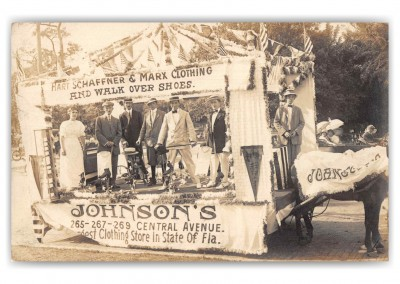 St Petersburg Florida Johnson_s Dept Store Parade Float