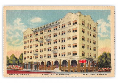 St Petersburg Florida Ponce de Leon Hotel Central Avenue at Beach Drive