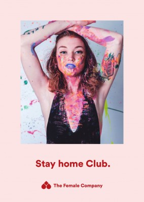 THE FEMALE COMPANY postcard Stay home Club