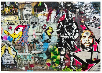 Foto Street-Art Wand Collage