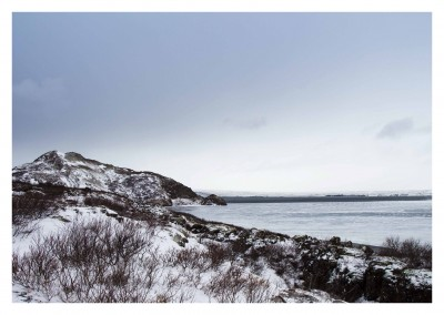 Photo of snowy shore