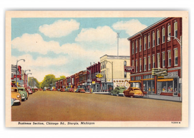 Sturgis, Michigan, Chicago Road business section