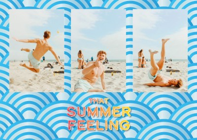 postcard saying that summer feeling