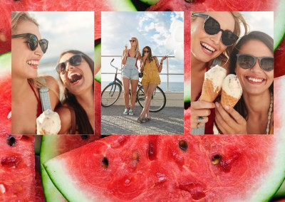 photo collage watermelons